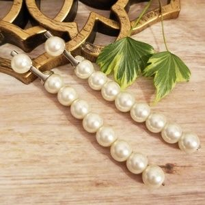 Pearl Strand Drop Earrings